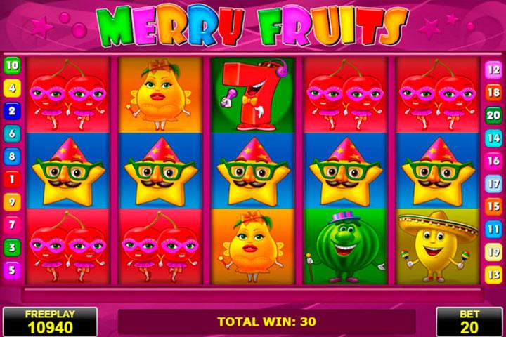 игровой автомат онлайн Веселые фрукты