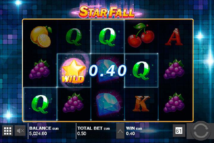 игровой автомат онлайн Звездное падение